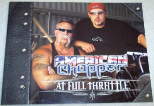 AMERICAN CHOPPER - At Full Throttle BOOK-MINT-UNREAD- TAKES