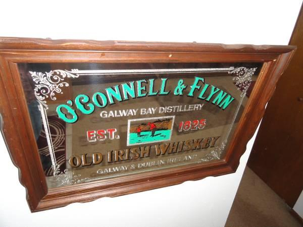 O Connell Amp Flynn Old Irish Whiskey Mirror Rare For Sale