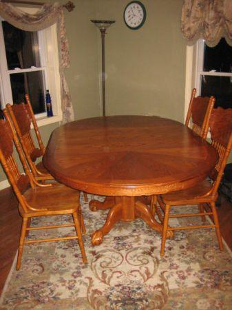 oak 7 pc dining room set ticonderoga for sale in plattsburgh new
