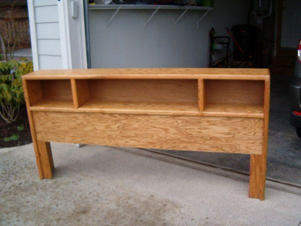 Oak bookcase headboard king bellingham for sale in for Furniture in bellingham wa