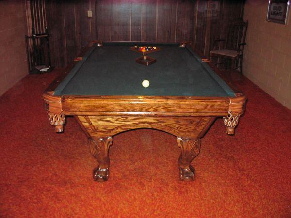 Round Oak Claw Foot Table Sporting Goods For Sale In The USA New - Claw foot pool table