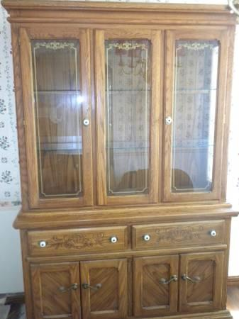 Oak Dining Room Set Amp China Cabinet For Sale In Redwood