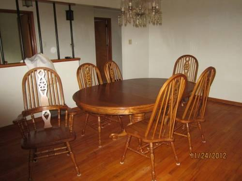 oak dining room table with 6 chairs for sale in pittsburgh