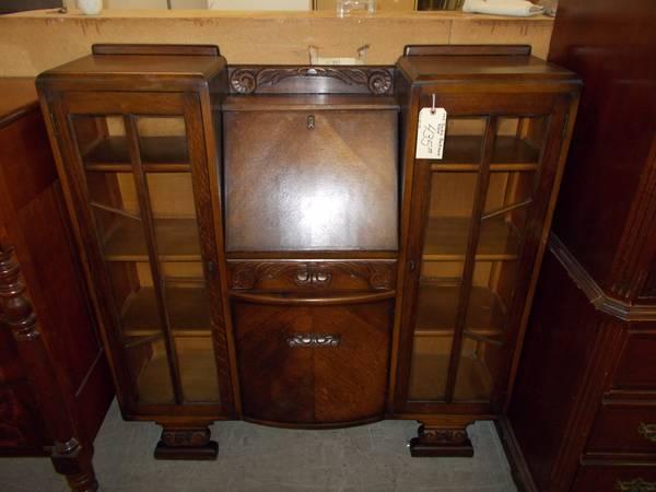 Oak Double Bookcase Desk for Sale in Greenwich