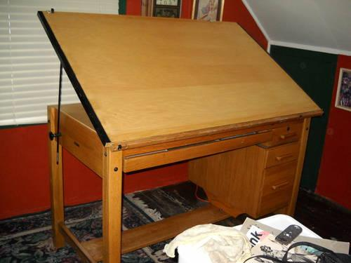 Oak Drafting Table For Sale In Weimar California