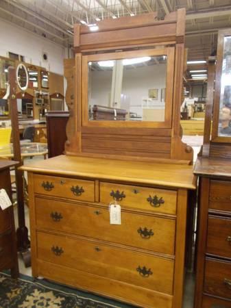 Oak Dresser With Mirror For Sale In Greenwich