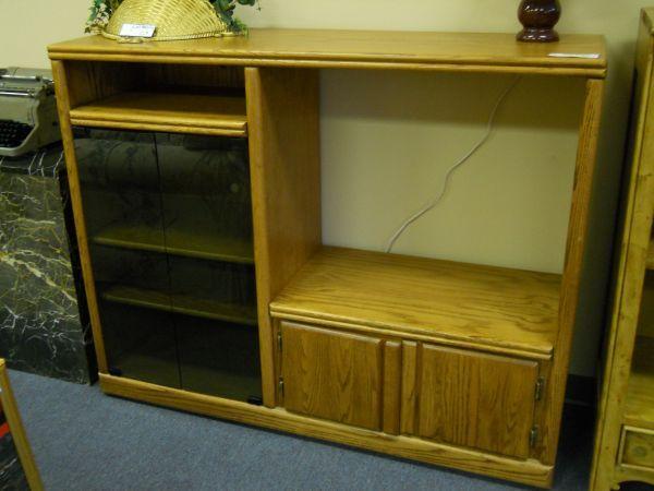 Oak Entertainment Center 60 40 Furniture Consignment Pensacola For Sale In Pensacola