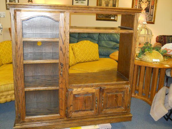 Oak Entertainment Centers   $80 (60/40 Furniture