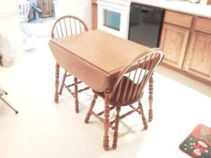 Oak Kitchen Table With 4 Chairs Muncie For Sale In Muncie Indiana Classified