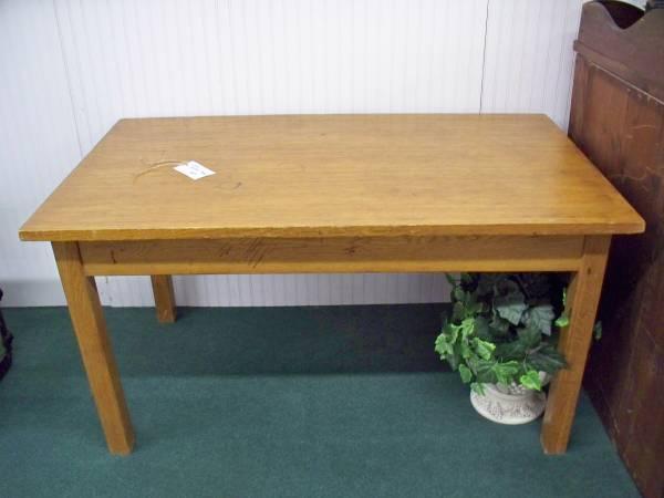 Oak Library Table - $90