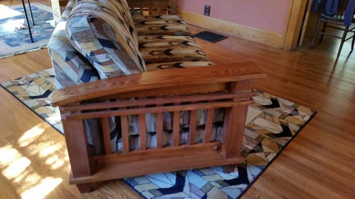 Oak Mission Sofa For Sale In Estes Park Colorado Classified