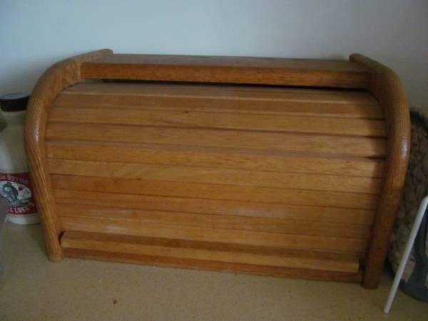 Oak roll-top Bread Box - $10