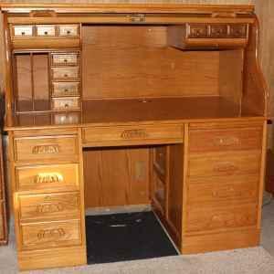 Oak Rolltop Desk Reduced Rockport