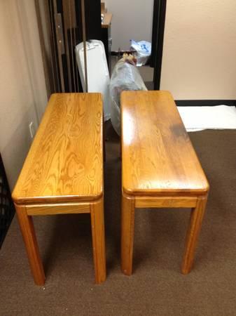 Oak Sofa Tables Set Of 2