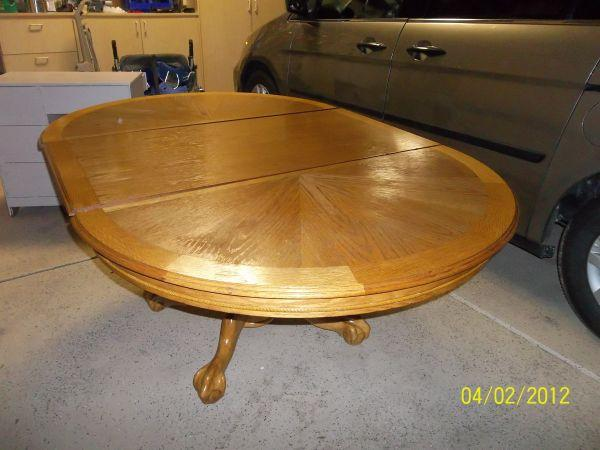 Oak Table With Leaf Claw Feet Thornton For Sale In Denver Colorado Classified