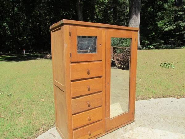 Oak wardrobe  chest - $75