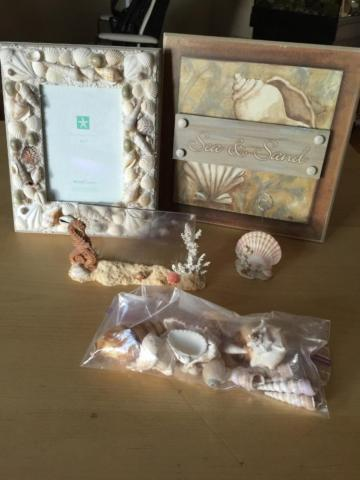 Ocean and shore themed decorative pieces