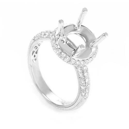 Odelia 18K White Gold Diamond Mounting Ring ED-9503W