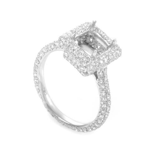 Odelia 18K White Gold Diamond Mounting Ring ED-9746W