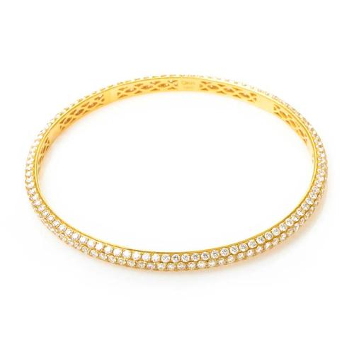 Odelia 18K Yellow Gold Diamond Pave Bangle