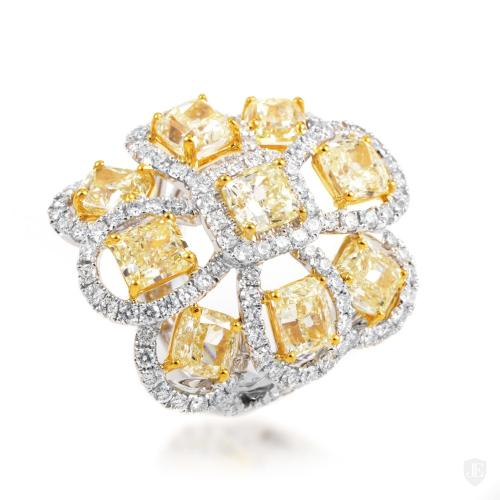 Odelia Women's 18K Multi-Tone Gold Diamond Cocktail