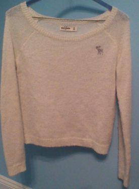 Off-White Sparkly Abercrombie Kids Sweater
