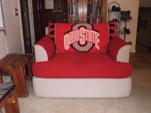 Ohio state buckeyes oversized chair and a 1 2 for for Bedroom furniture in zanesville ohio