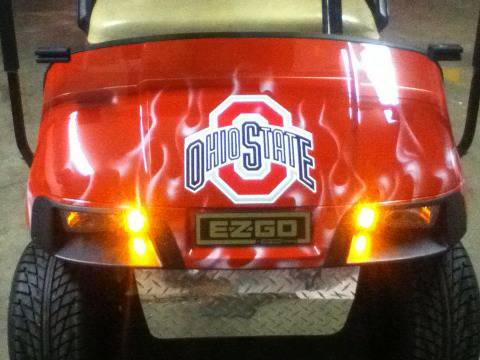 Ohio State Custom Ez Go Pds Golf Cart For Sale In