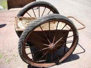 old 2 wheel ore coal cart or wheelbarrow berks for sale in reading pennsylvania classified. Black Bedroom Furniture Sets. Home Design Ideas