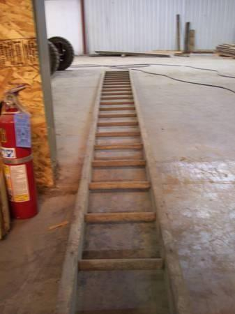 Old Antique Oak Ohio Barn Ladder 22 Quot For Sale In Wharton
