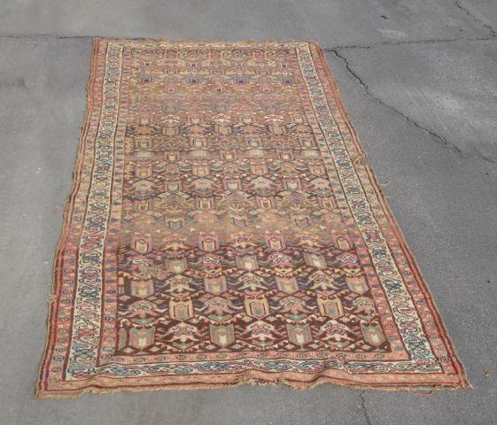 Antique Large Rug: Old Antique Persian Oriental Rug Carpet Large Size Hand