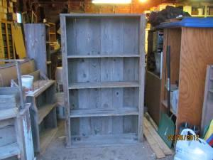 Old barn wood shelves and flower box McCool Junction for