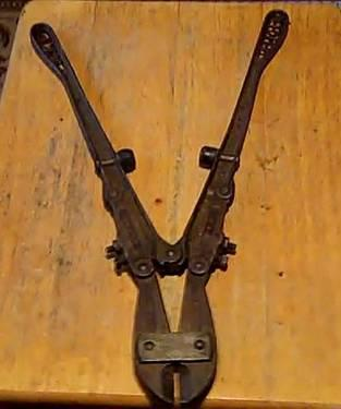 OLD CAST IRON 1892 PORTERS BOLT CUTTERS SIZE 0 TRADE