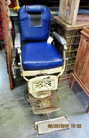 Old Cast Iron Barber Chair From Asian Images For Sale In