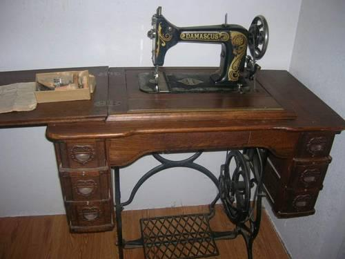 Old Damascus Treadle Sewing Machine Chehalis For Sale