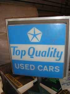 "Cars For Sale In Nebraska >> Old Dodge Chrysler Plymouth MOPAR Lighted ""Used Cars Sign ..."