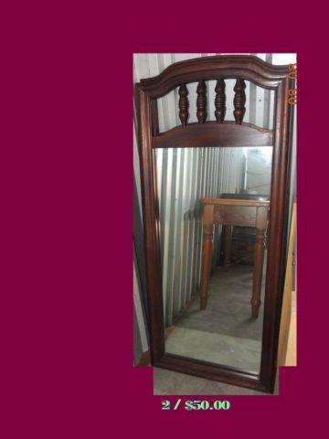 old dresser ,1940s table , Antique Buffet table, replacement mirrors