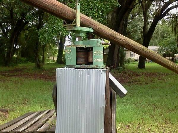 Old Fashioned Sugar Cane Grinder For Sale In Lake City Florida