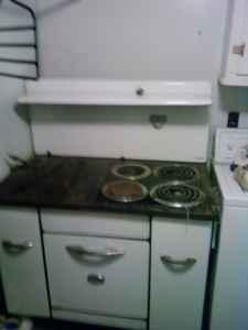 Old Fashioned Wood / Electric Kitchen Cooking Stove /