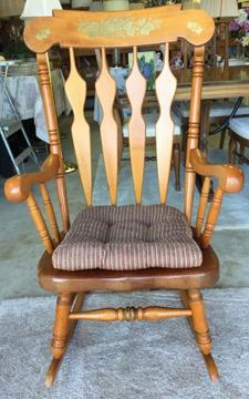 Old Fashioned Wooden Rocking Chair for Sale in Dunnellon, Florida ...