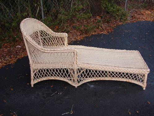 Old Florida Wicker Rattan Chair Lounge For Sale In
