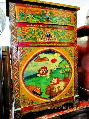 Old hand Painted Tibetan Buddha Cabinet Sale!!!