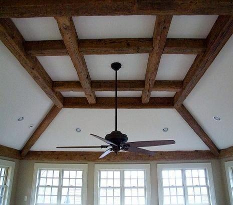 Old Reclaimed Antique Barn Beams Hollow Wood Ceiling