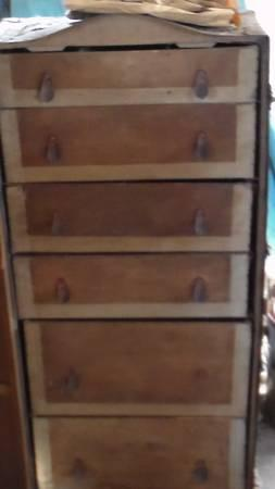 Old Upright Trunk - $50