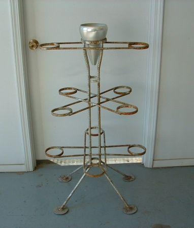 Old Vintage Metal Plant Stand Holds 11 Plants 40