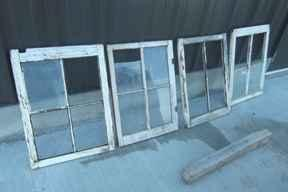 Old windows - $5 (Baileyville)