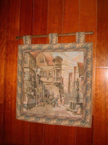 Old World Italian Tapestry Wall Hanging For Sale In