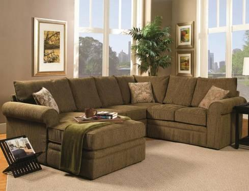 Olive green chenille sectional for sale in heath texas for Green chenille sectional sofa