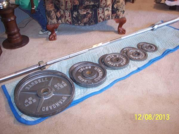 Olympic style weight set - $175
