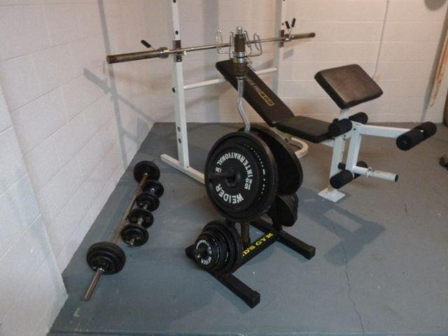 Olympic Weight Set 294lbs Standard Weight Set 85lbs Bench Curling Bar For Sale In Warren Ohio